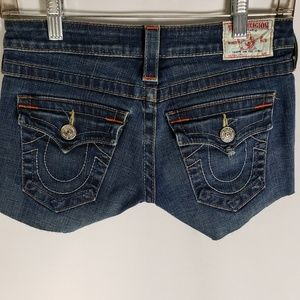 True Religion Womens Sophie Denim Shorts 25